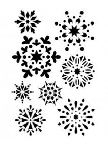 8 pochoirs flocons de neige