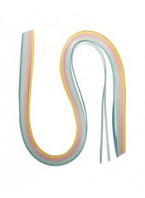 100 papiers 50cmx3mm quilling pastel