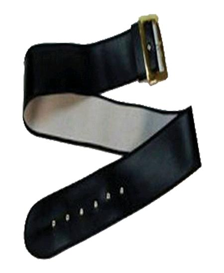 ceinture noire avec boucle doré 1M54