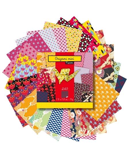 papier origamix240 feuilles 7.5x7.5cm