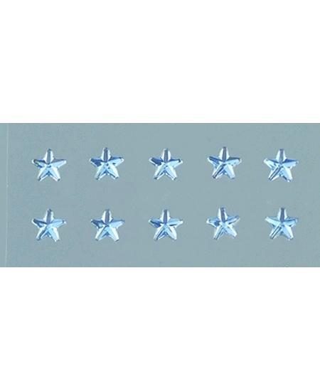 56 strass étoiles bleu clair autocollant