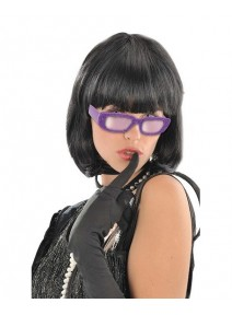 lunette star pailletée violet