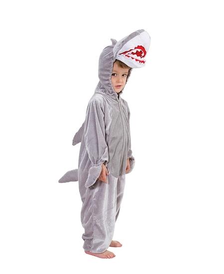 deguisement 1M40 requin peluche