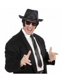 cravate noire (noeud non fait )