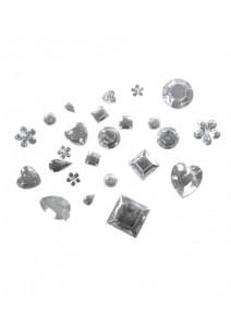 mélange de strass acrylique cristal