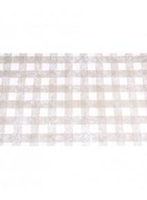 chemin de table 5Mx30cm taupe carreaux