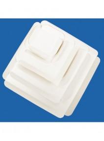 carrés rainésx50/19cmx19cm blanc