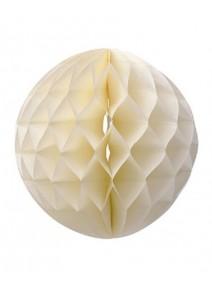 boule ivoire D30cm papier alvéolé