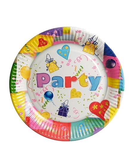 assiettesx10/D23cm party en carton