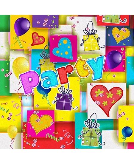 serviettesx20/3plis party