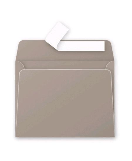 enveloppes gris acierx20/9x14cm