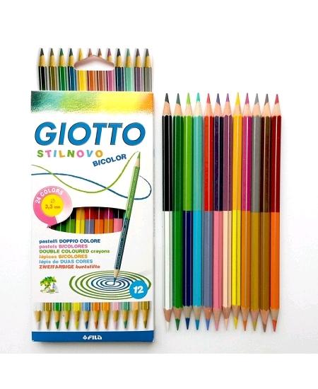 crayonsx12 bicolore soit 24couleurs