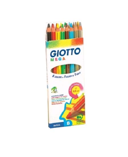 crayons de couleurx8 extra large