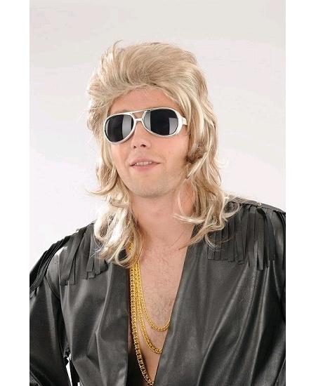 perruque John blond foncé avec méches