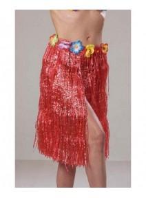 jupe hawaï rouge 60cm synthétique