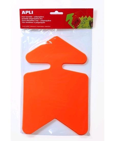 flèchesx10/16cmx24cm effaçables orange