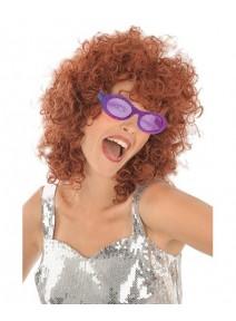 lunette disco pailletée violette