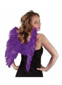 ailes d`ange violet en plumes