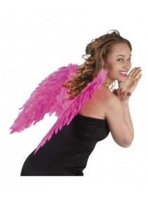 ailes d`ange rose vif en plumes