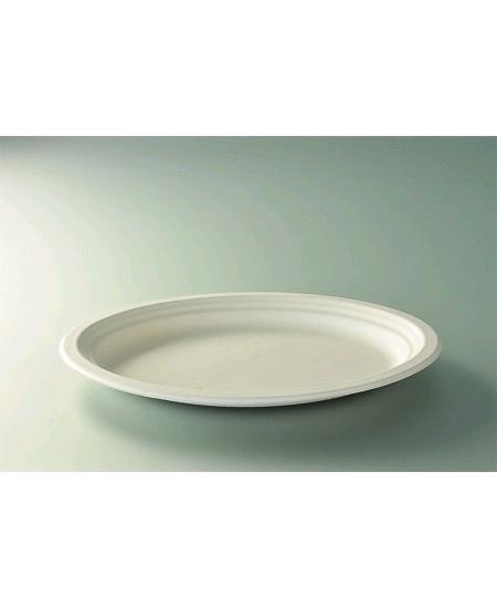 assiettes ovalesx50/D26cm canne à sucre