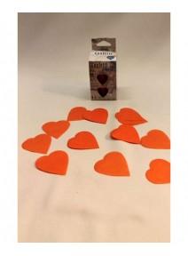 confettis de scène coeur orange 100g./pm
