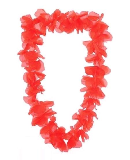 collier hawaïen orange fluo