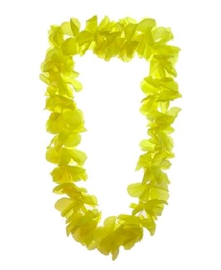 collier hawaïen jaune fluo