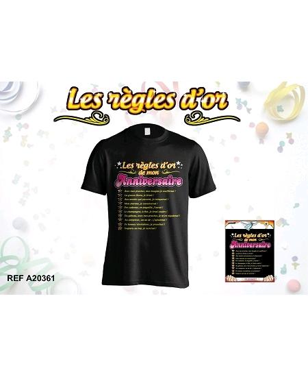 tee-shirt anniversaire femme