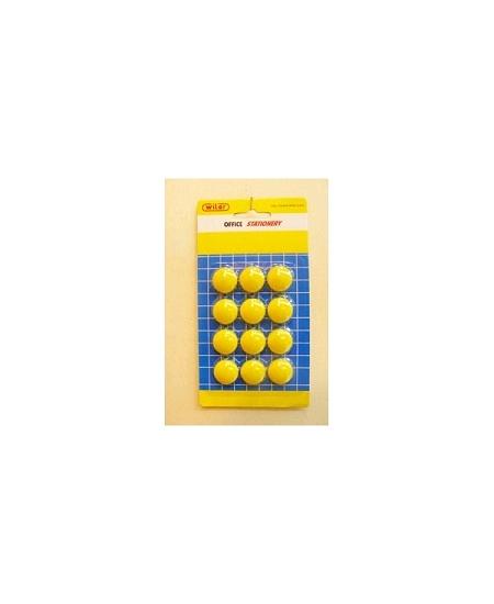 aimantsx12/D2cm jaune vif
