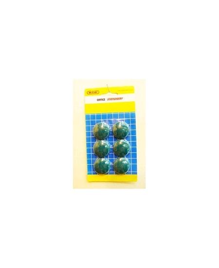 aimantsx6/D3cm vert foncé