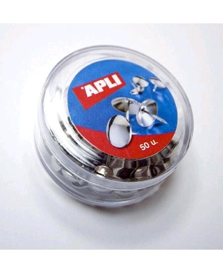 50 punaises argenté D1cm