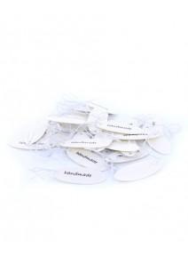 étiquettes ovalesx10 blanche