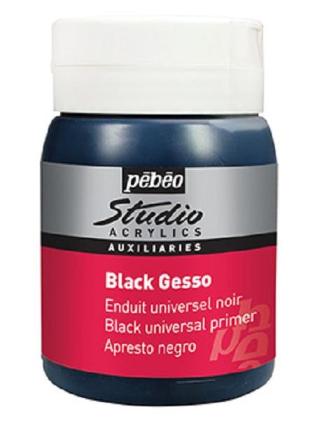 gesso noir acrylique 500ml