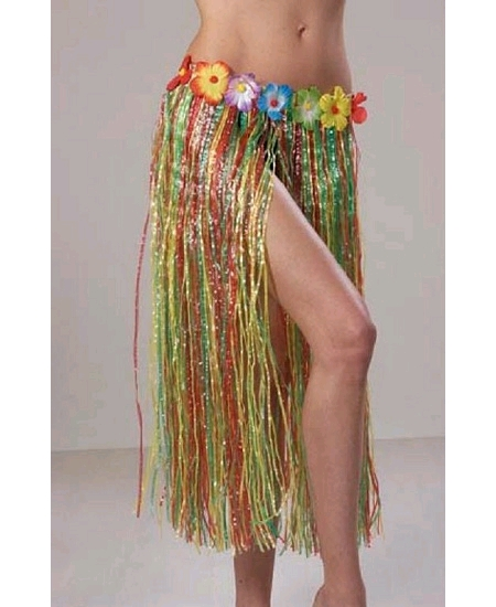 jupe hawaï 64cm/H75cm multicolore