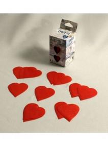 confettis de scène coeur rouge 100g.PM