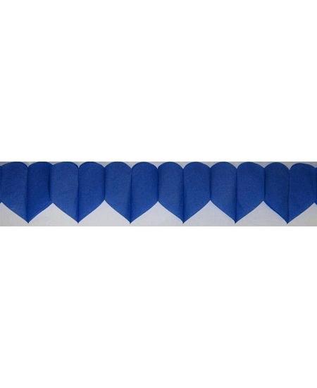 guirlande coeur 6M bleu royal