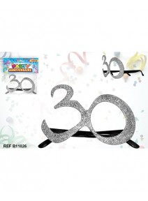 lunette pailletée 30 argent
