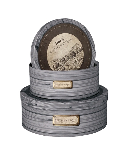 boîte ronde D31.5cm authentique