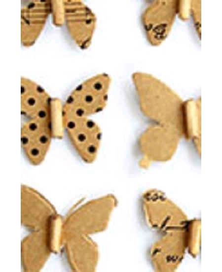papillonsx12 kraft fantaisies