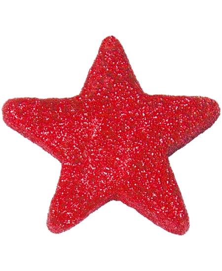 étoilesx12 rouge pailletées