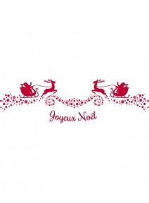 chemin table 5Mx30cm joyeux Noël rouge