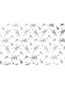 chemin table 5Mx36cm  sapins argentés