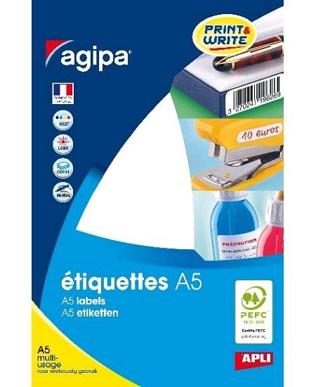 384 étiquettes D3cm blanches