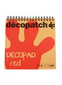 bloc décopatchx48 rouge