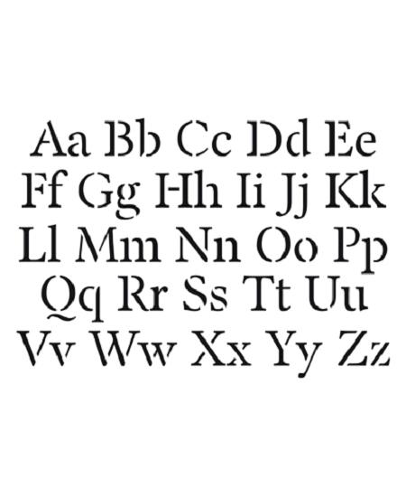 pochoirs alphabet minuscule majuscule
