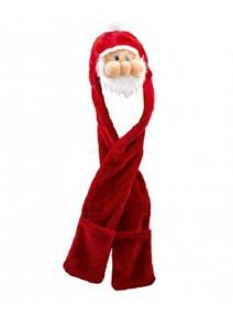 bonnet Père Noël avec écharpe moufle