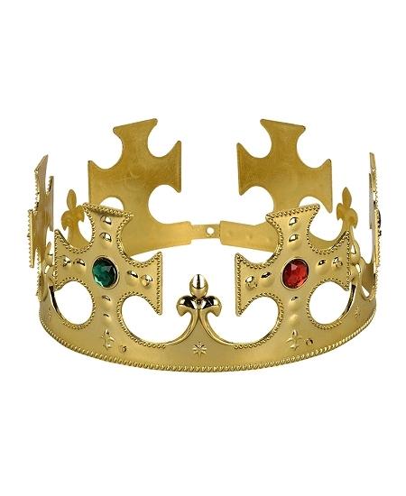 couronne roi en plastique