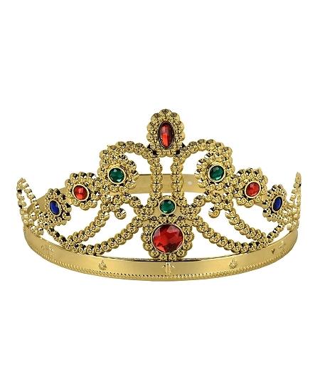 couronne reine or en plastique