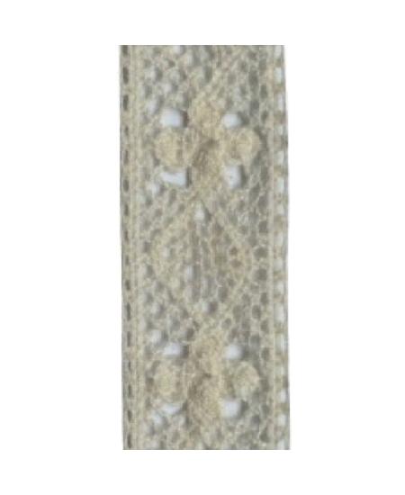 ruban dentelle 5M/1.6cm ivoire