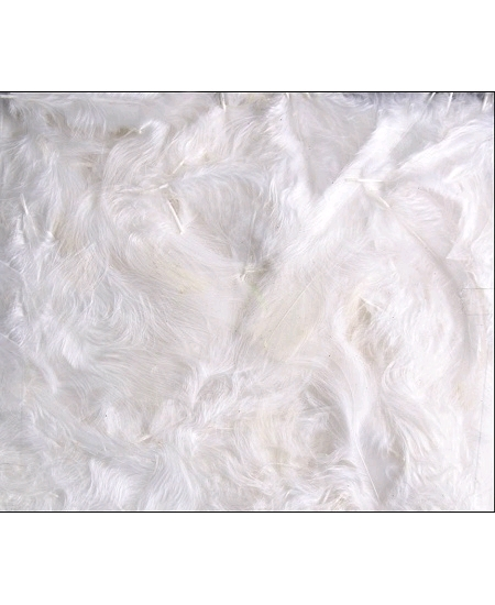 plumes blanches 100grs environ 6 à 8cm